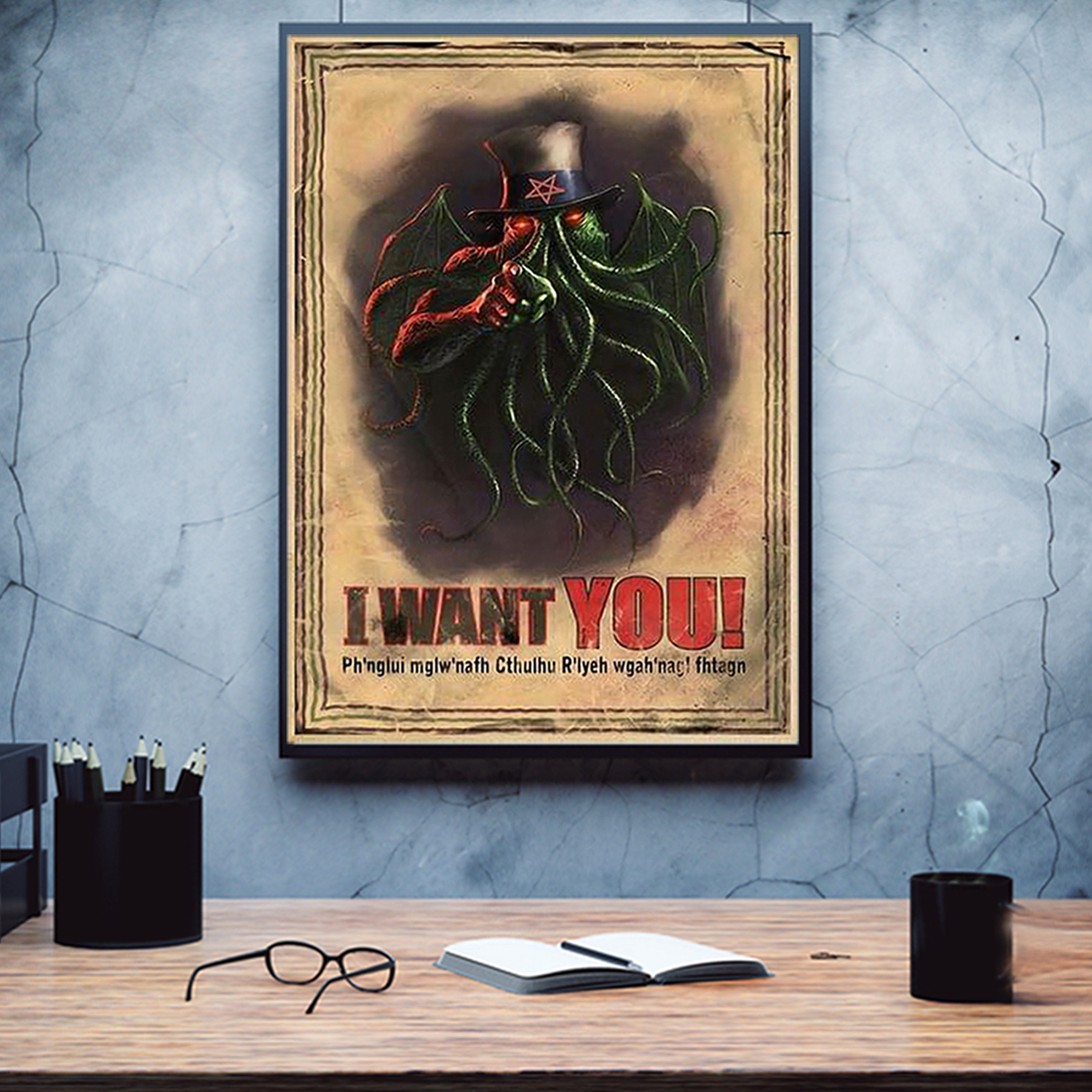 Cthulhu I want you poster A3