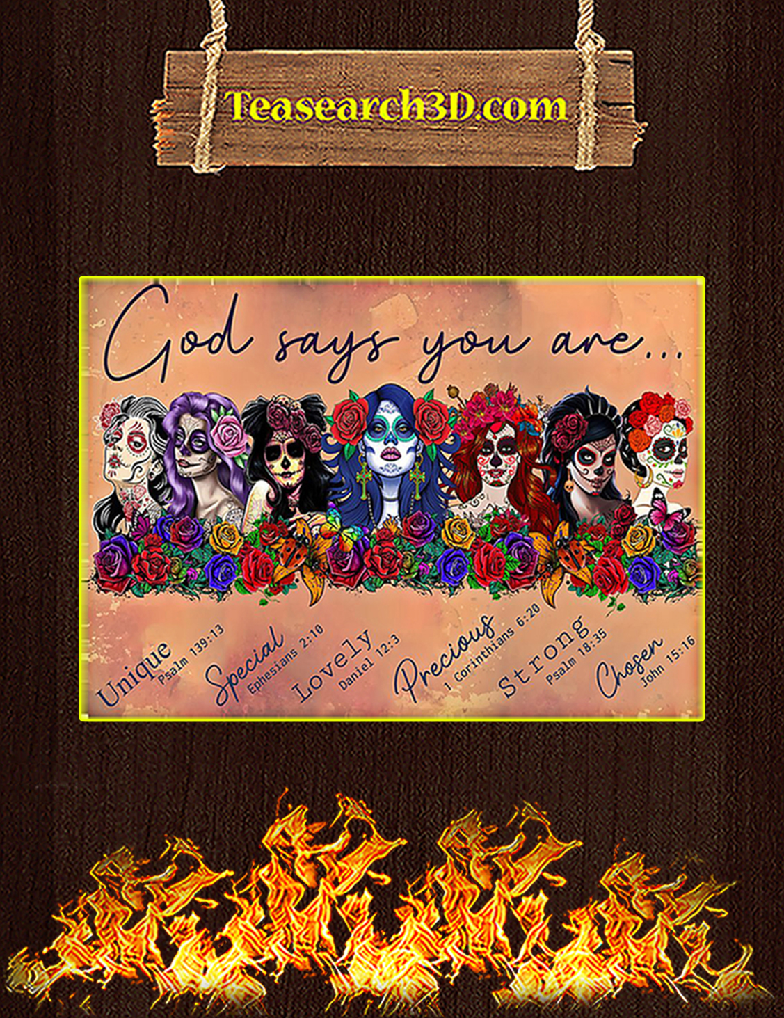 Day of the dead god says you are poster A3