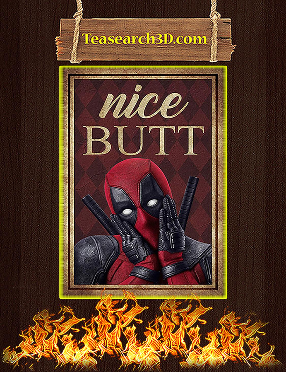 Deadpool omg nice butt poster A3