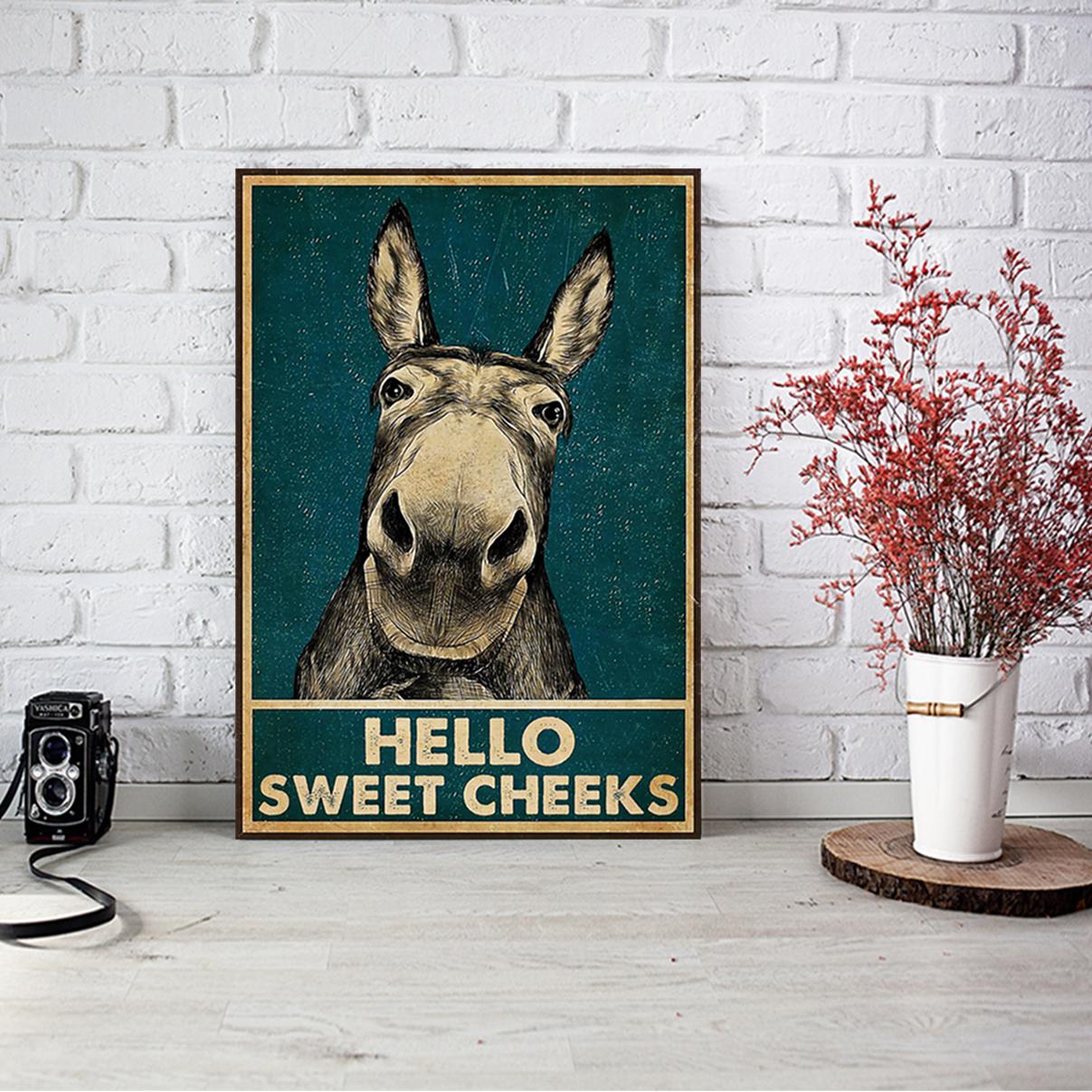 Donkey hello sweat cheeks poster A1