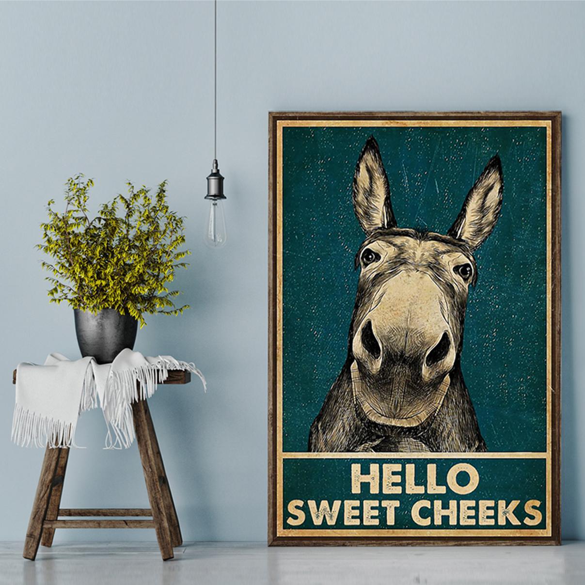 Donkey hello sweat cheeks poster A2