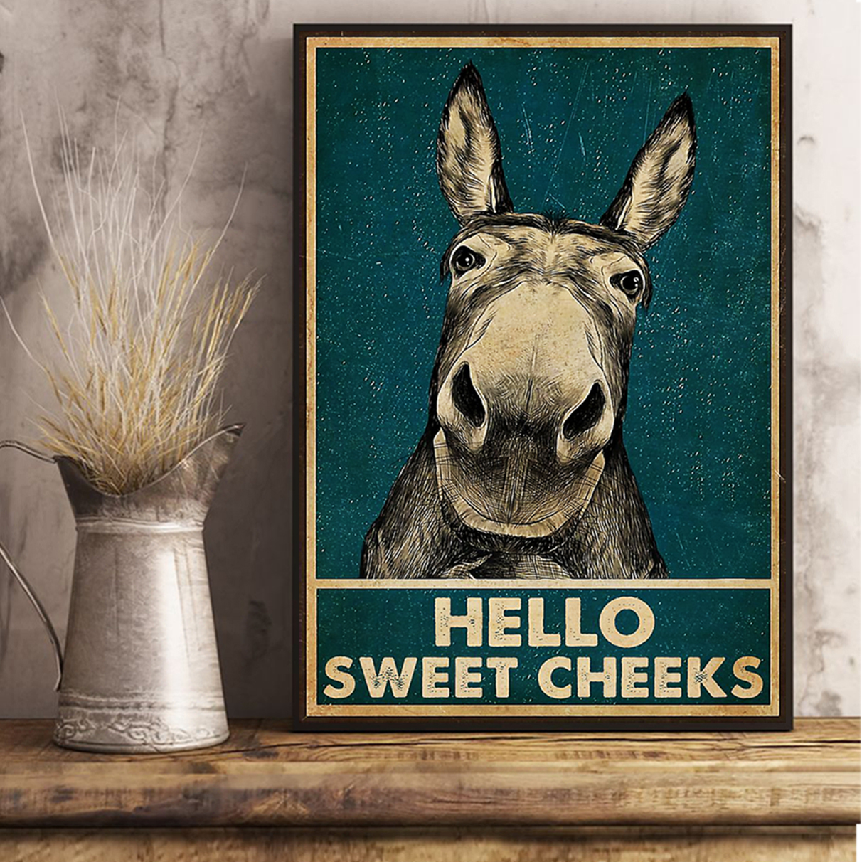 Donkey hello sweet cheeks poster A1