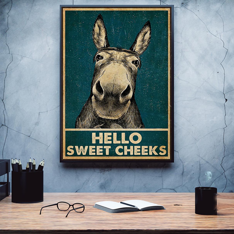Donkey hello sweet cheeks poster A2