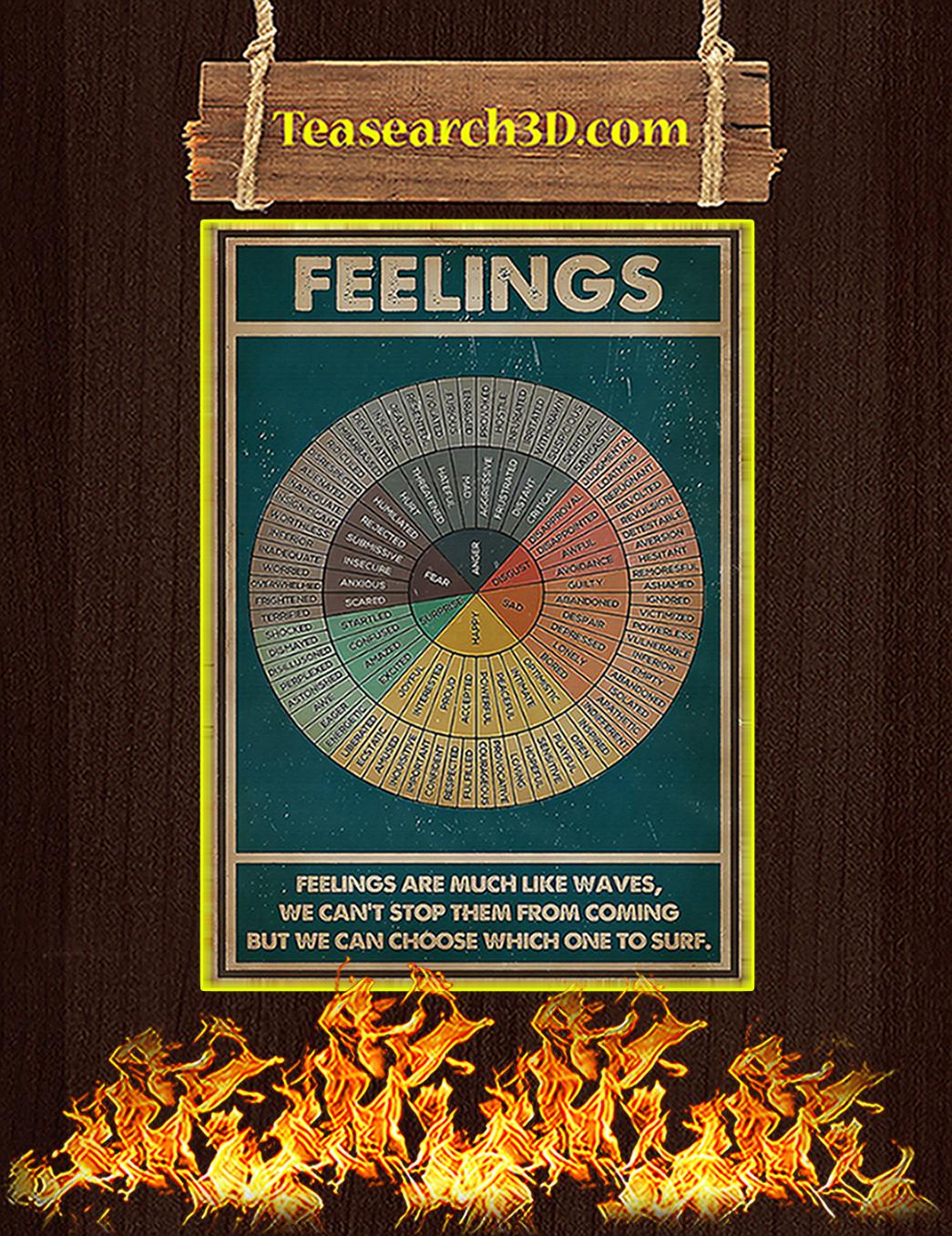 Feelings social worker vertical poster A1