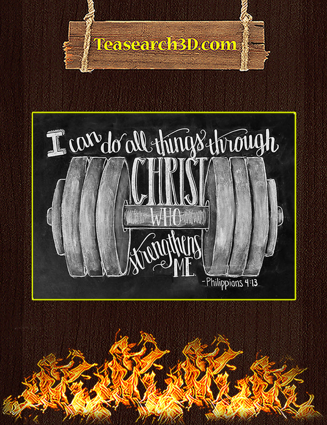 Fitness I can do all things through christ who strengthens me poster A2