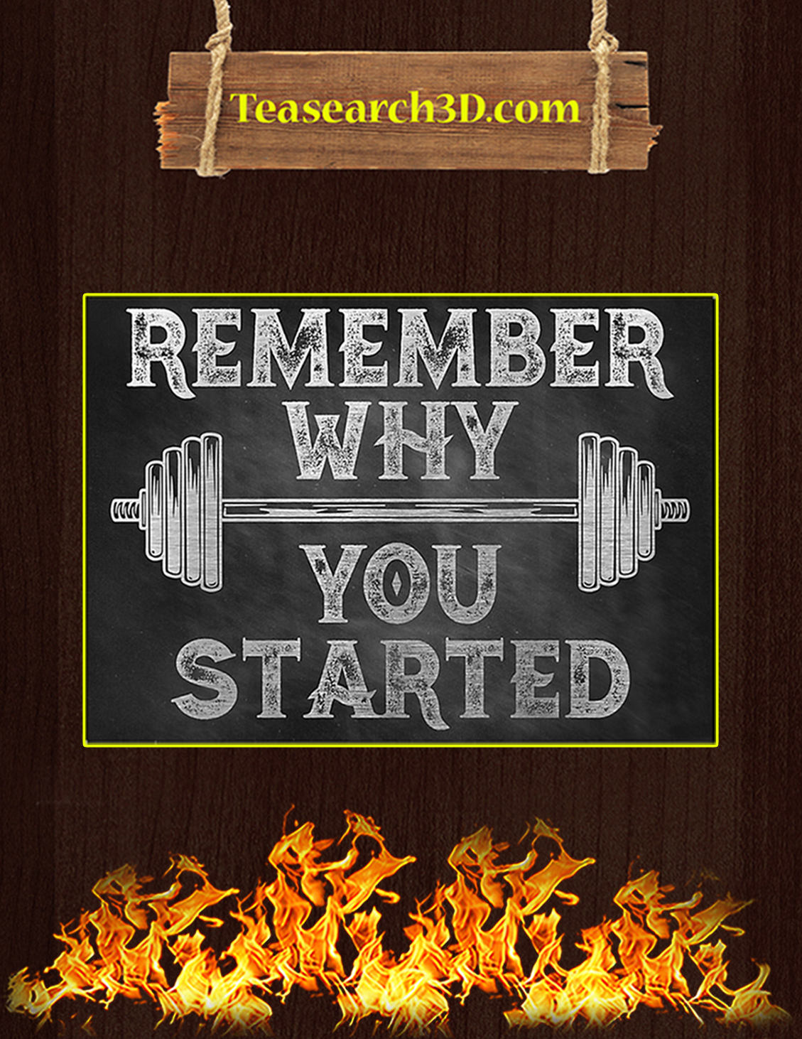 Fitness remember why you started poster A3