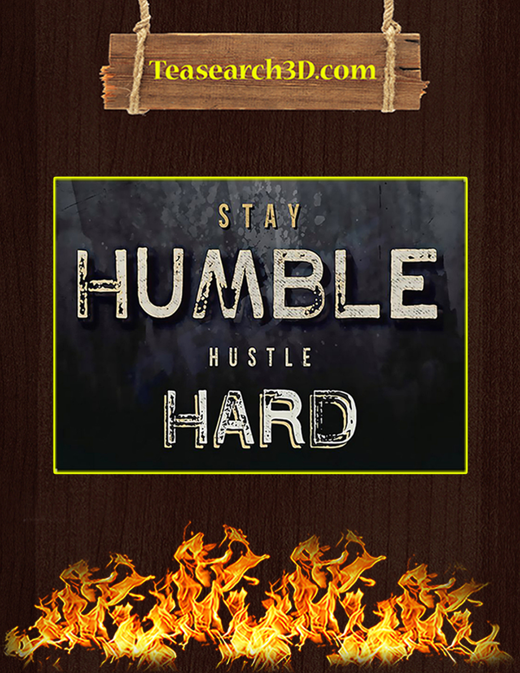 Fitness stay humble hustle hard poster A1