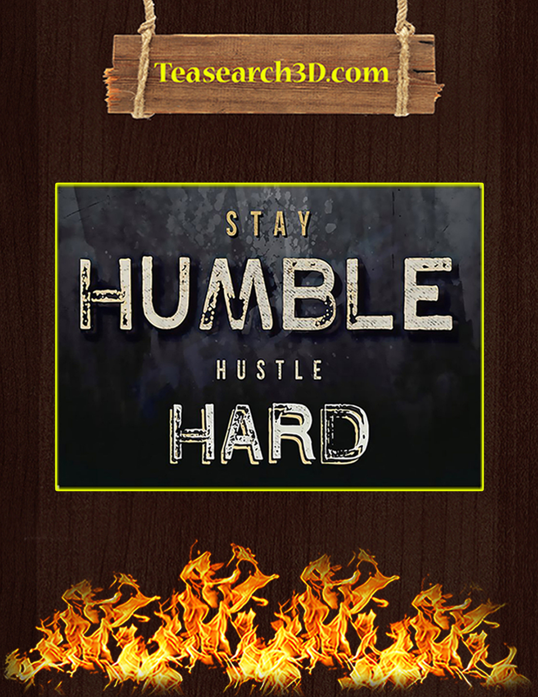 Fitness stay humble hustle hard poster A2
