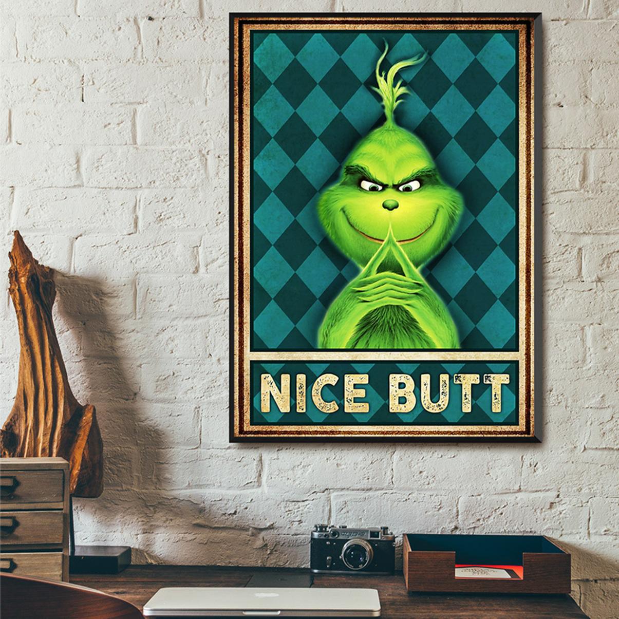 Grinch nice butt poster A2