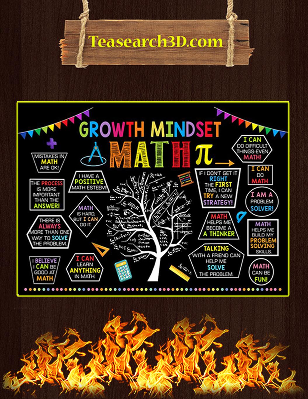 Growth Mindset math poster A1