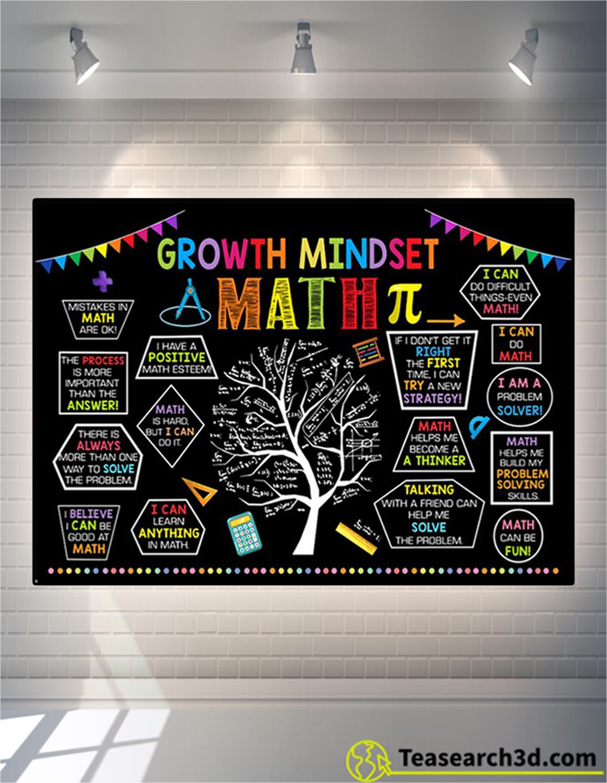 Growth Mindset math poster A2