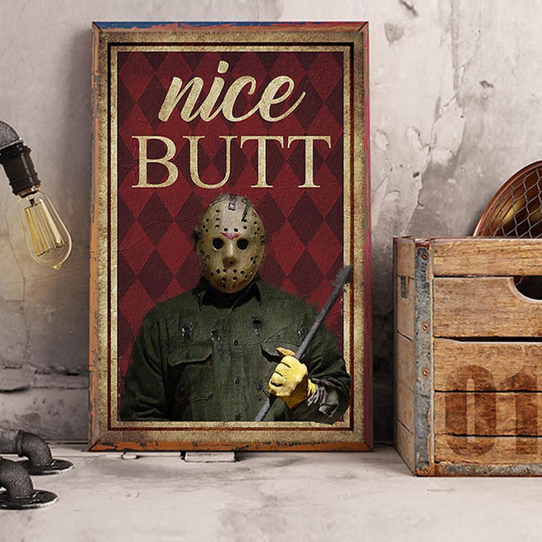 Horror Jason Voorhees nice butt poster A3