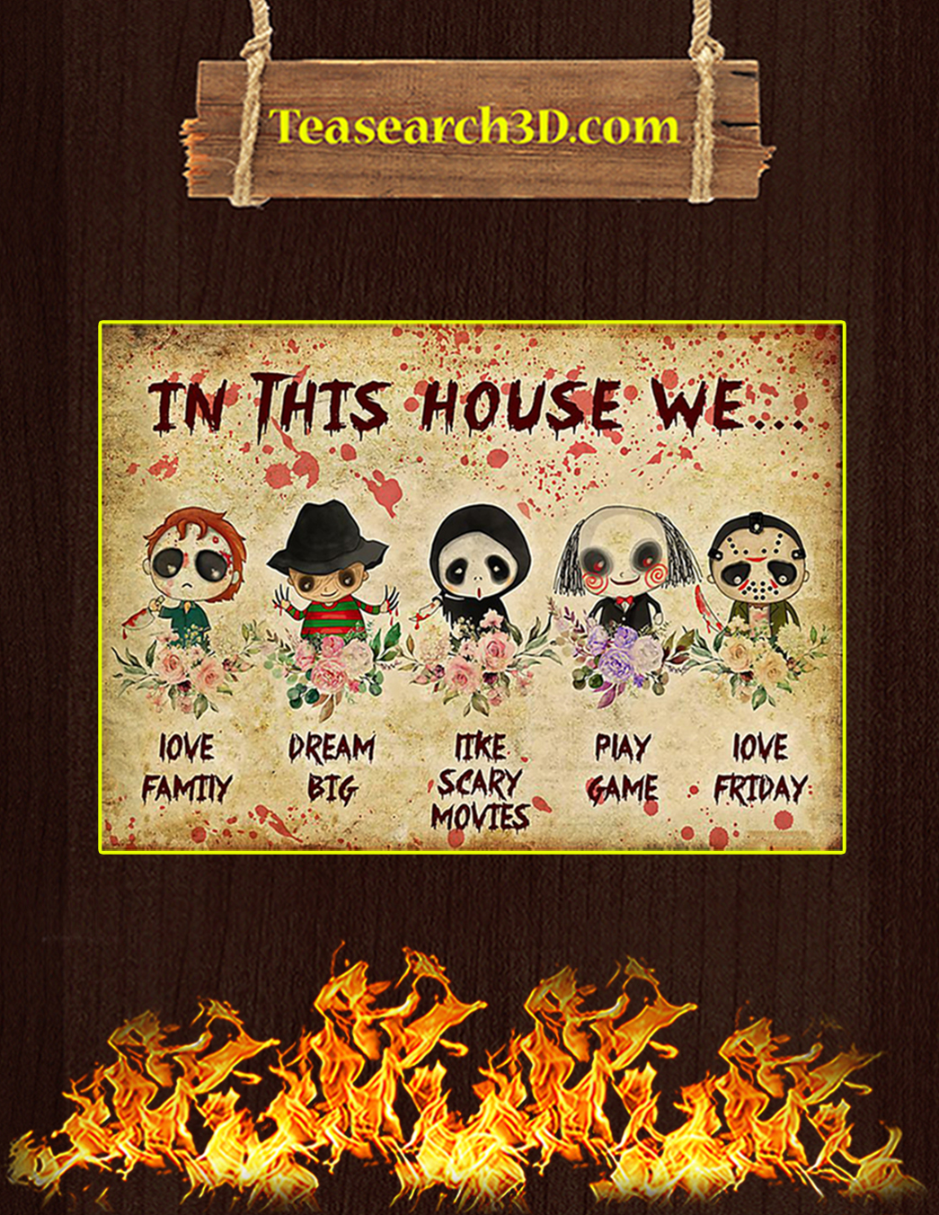 Horror in this house we poster A1