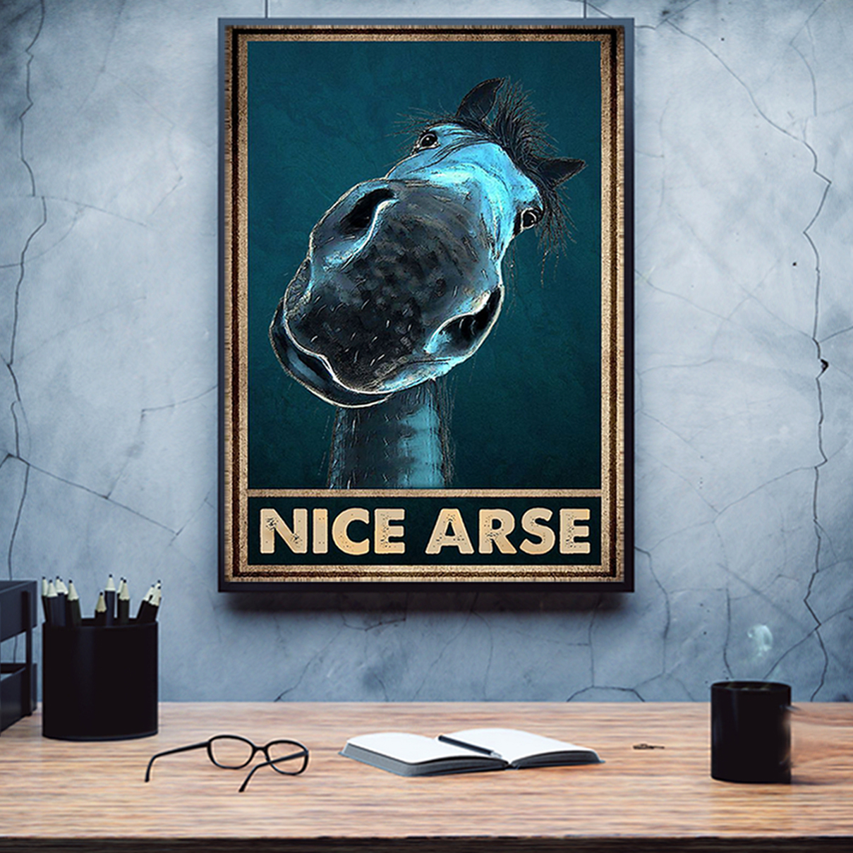 Horse nice arse poster A1