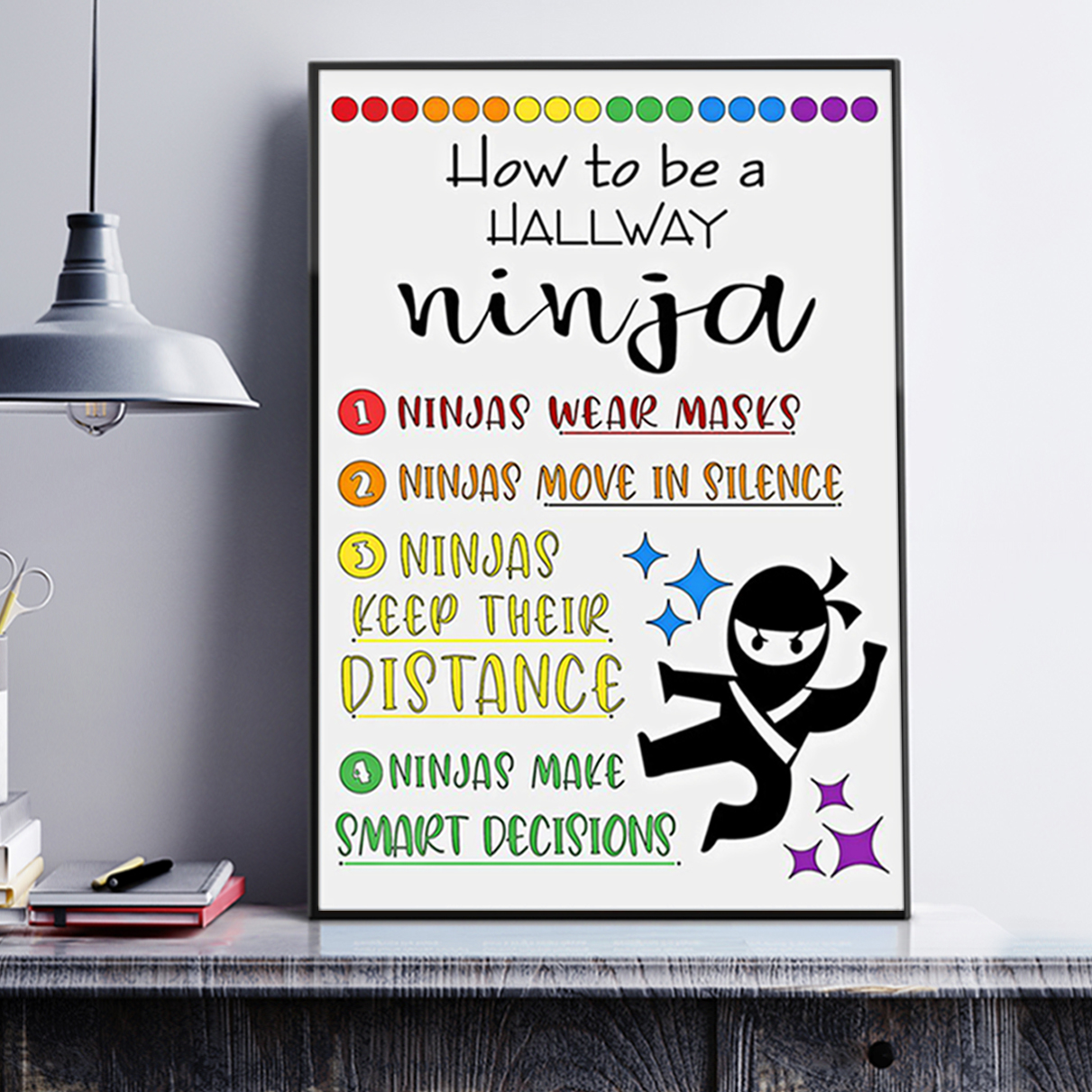 How to be a hallway ninja poster A3