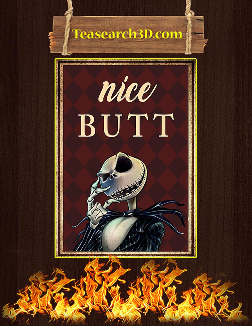 Jack skellington nice butt poster