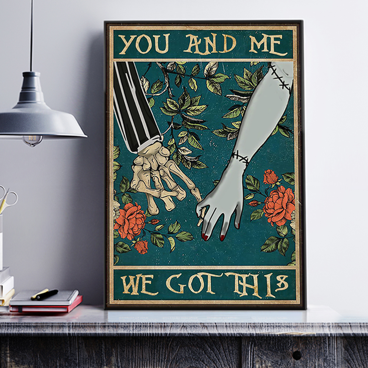 Jack skellington sally you and me we got this poster A1