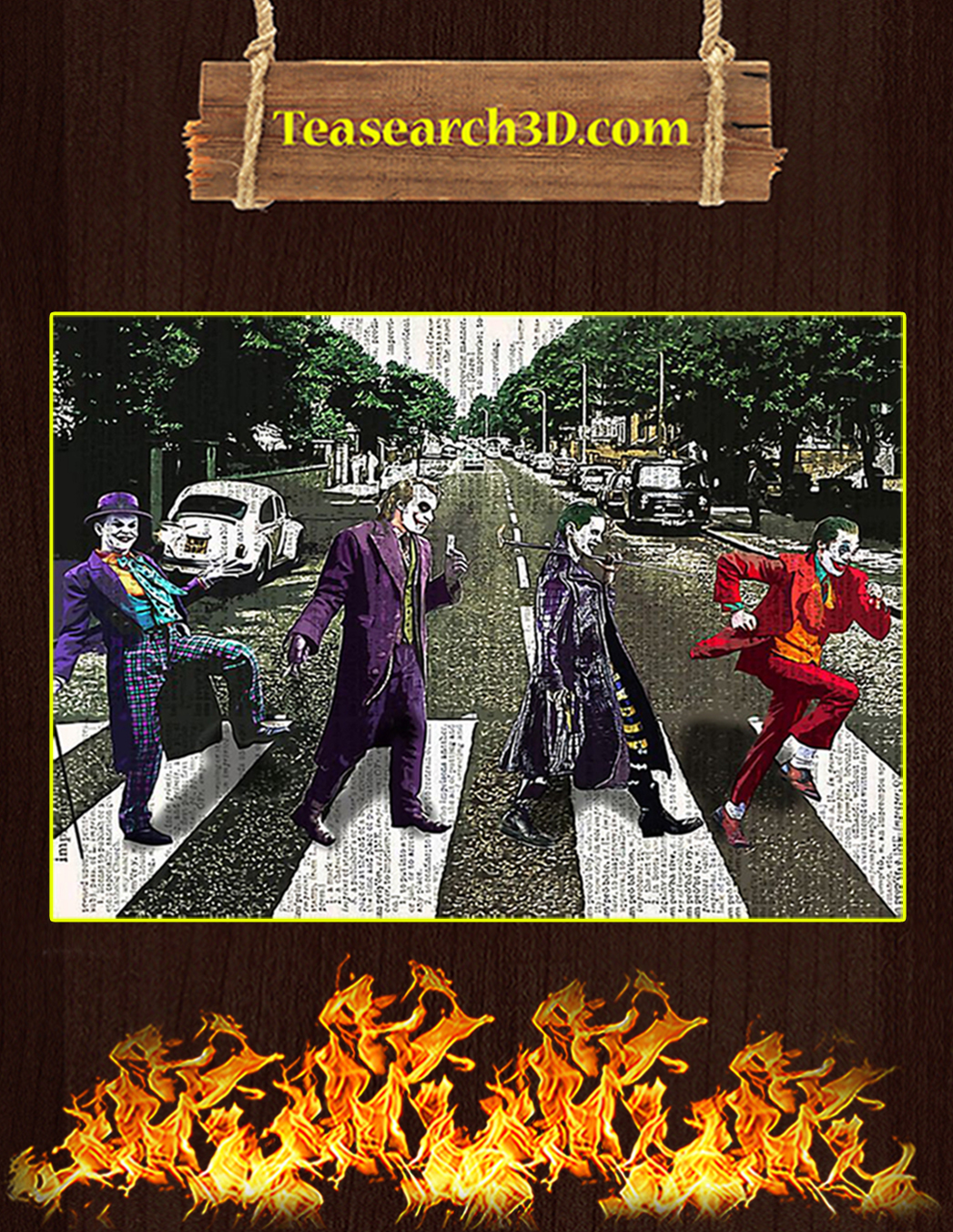 Jocker abbey road parody poster A1