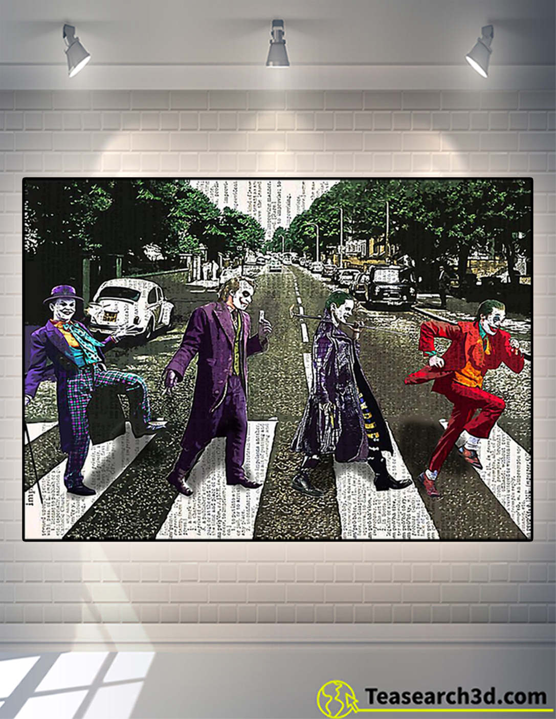 Jocker abbey road parody poster A2