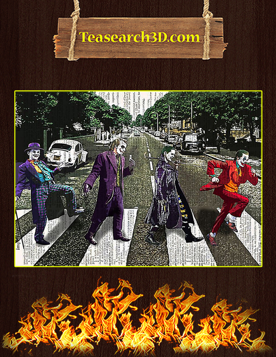 Jocker abbey road parody poster A3