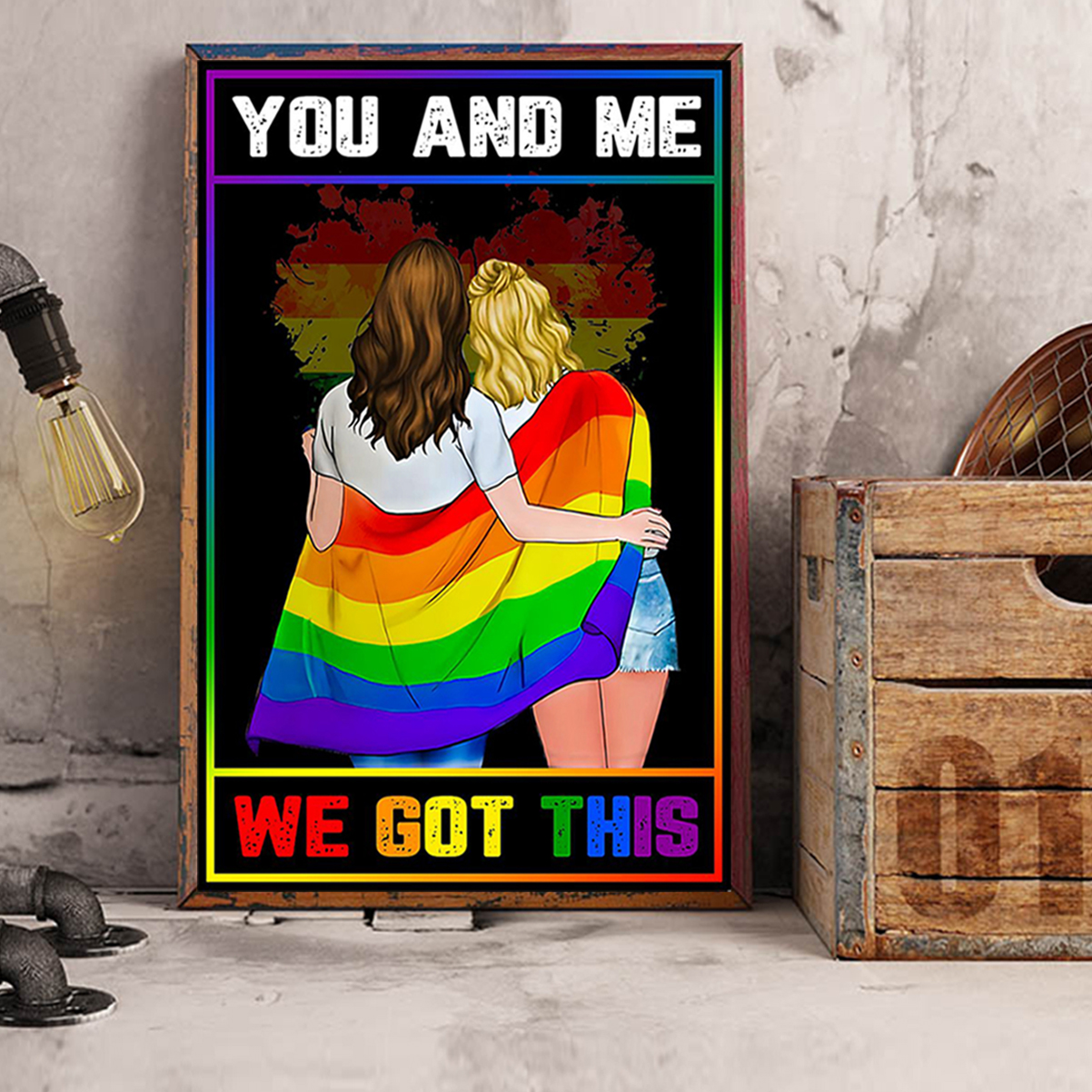 LGBT you and me we got this poster A3