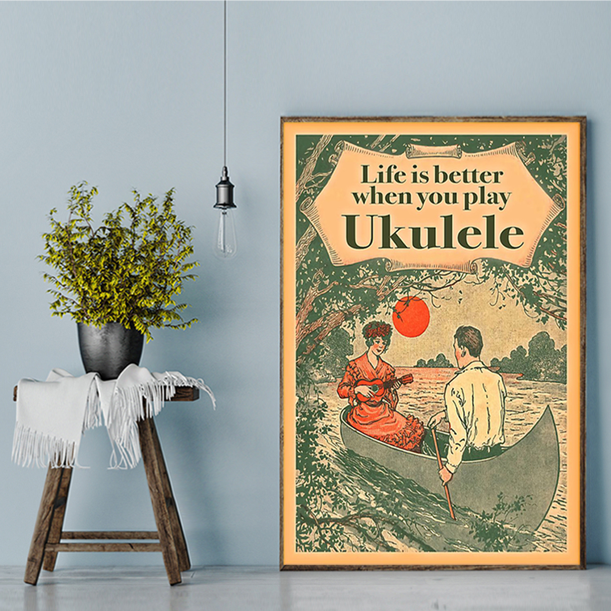 Life is better when you play ukulele poster A2