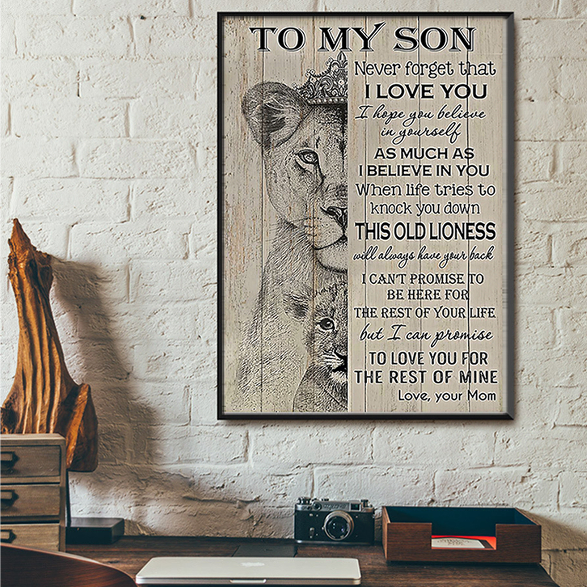 Lion to my son mom poster A2