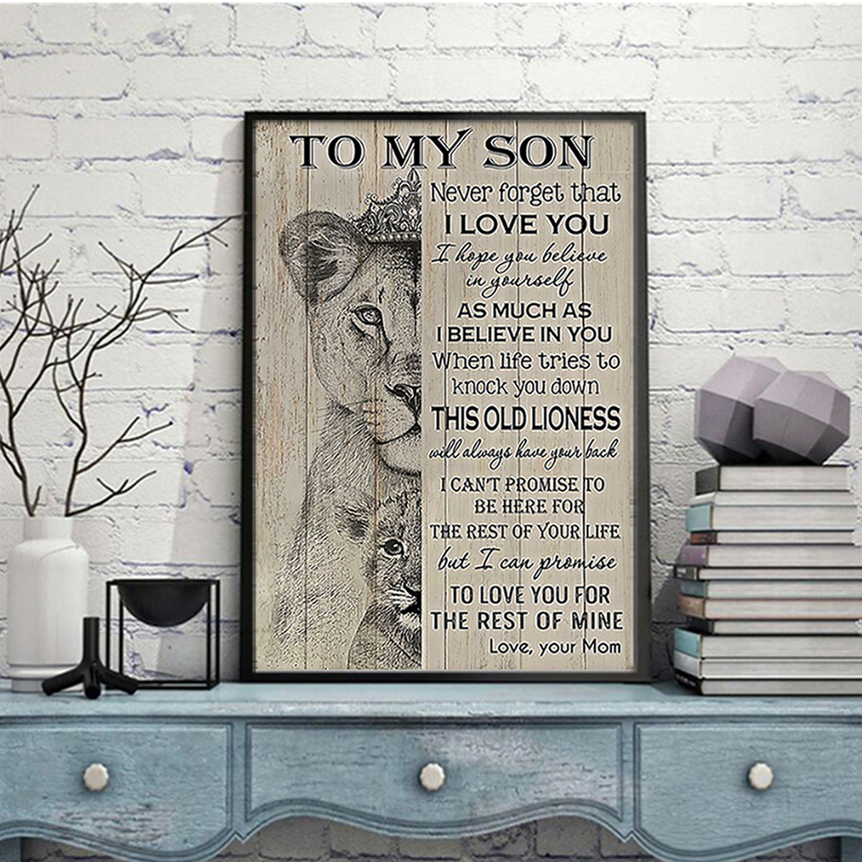 Lion to my son mom poster A3