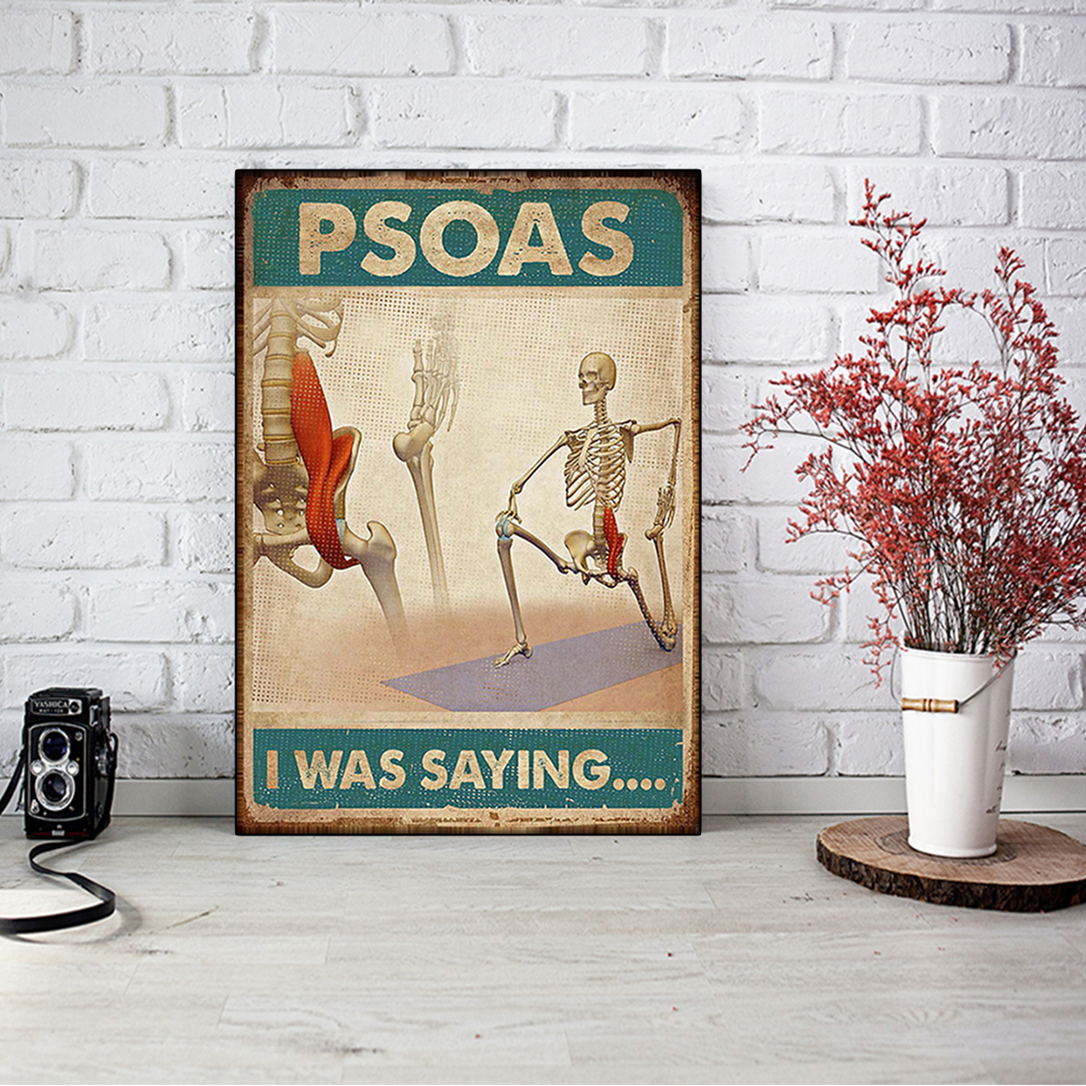 Massage therapist psoas I was saying poster A1
