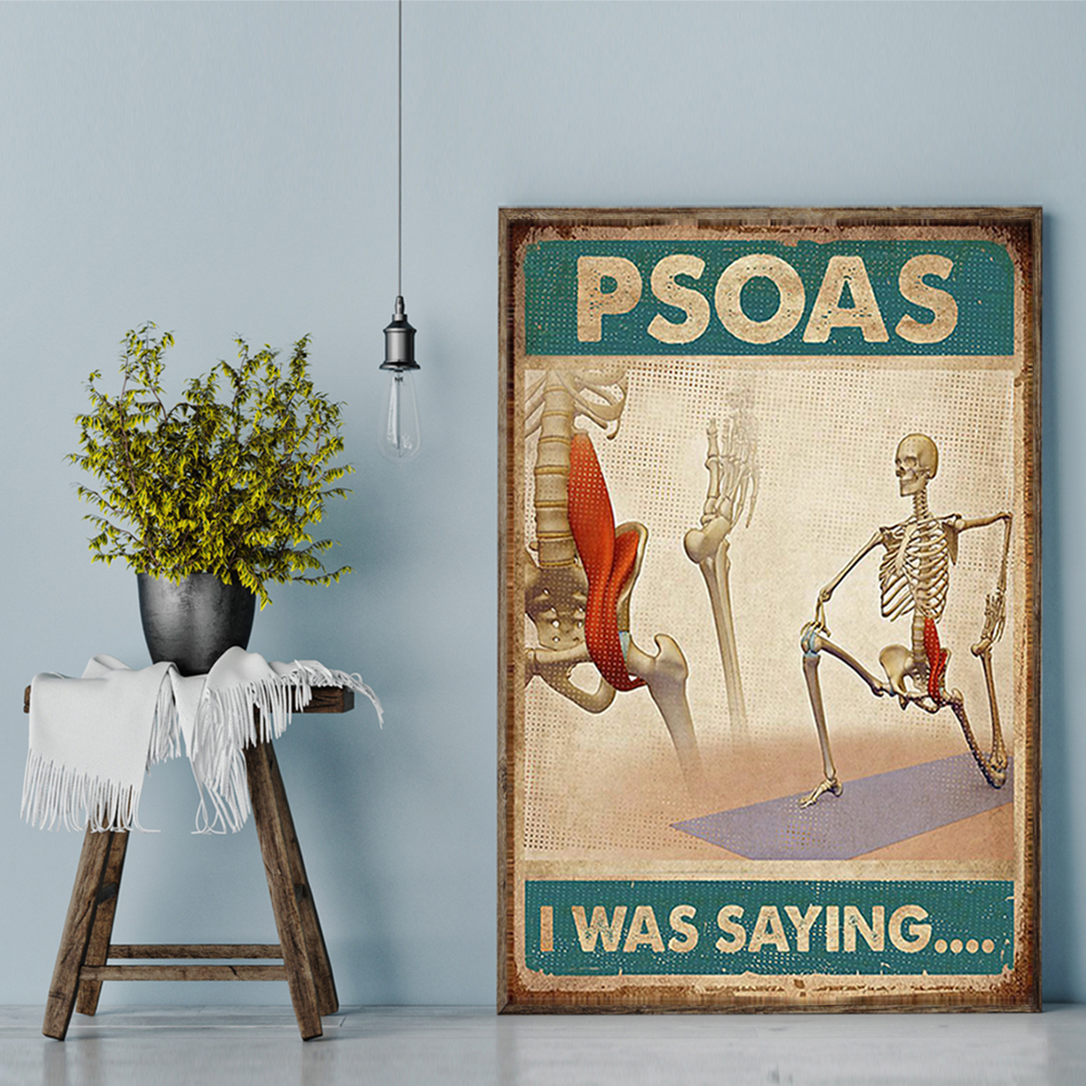 Massage therapist psoas I was saying poster A2