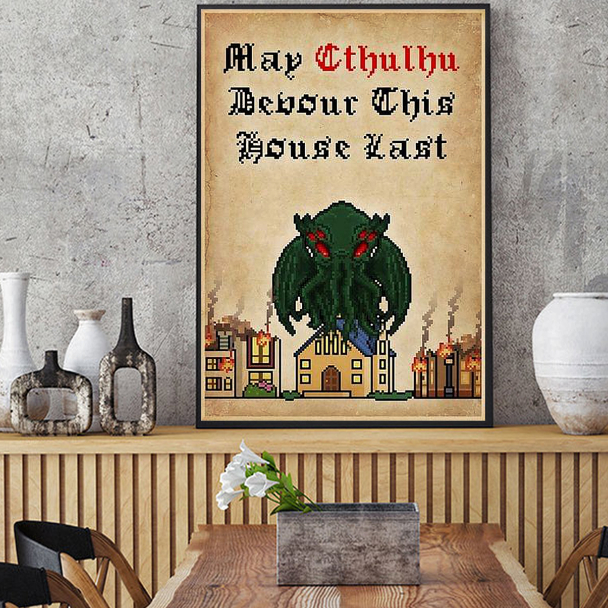 May cthulhu devour this house last poster A2