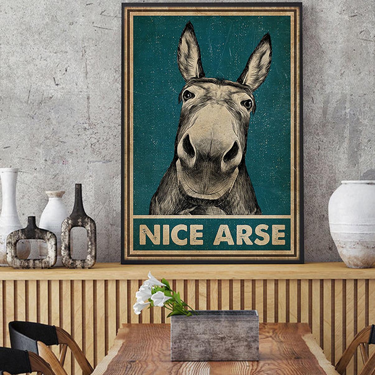 Nice arse donkey poster A2