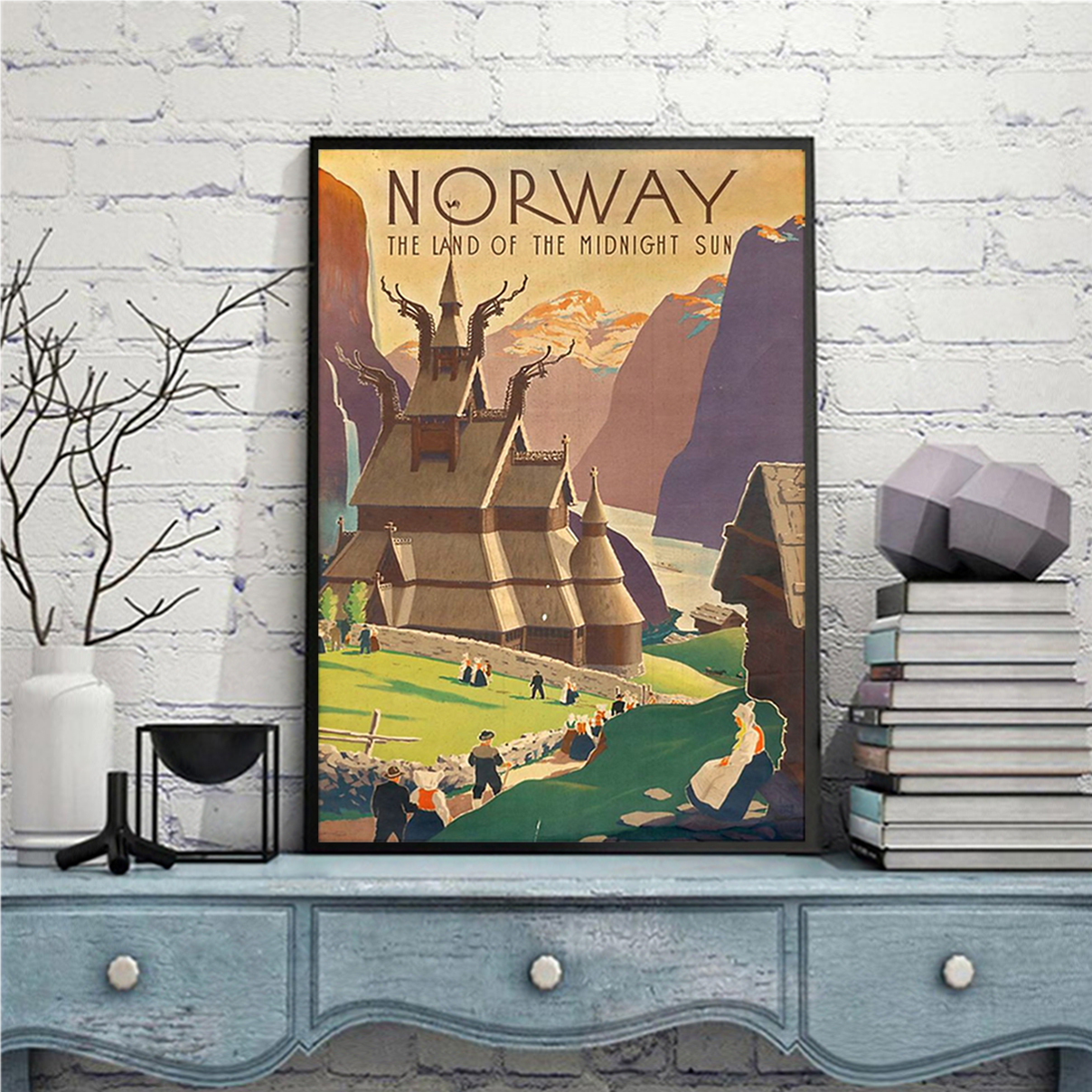 Norway the land of the midnight sun poster A1