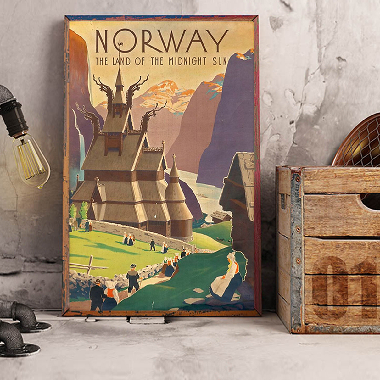 Norway the land of the midnight sun poster A2