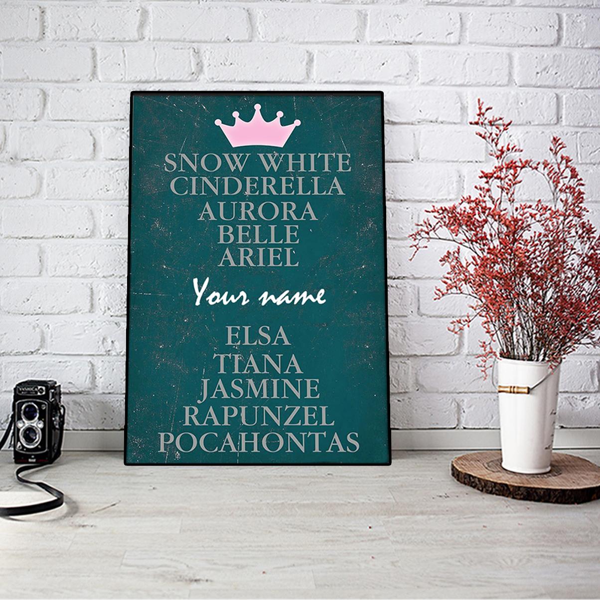 Personalized snow white cinderella aurora belie ariel poster A1