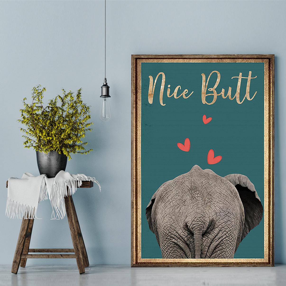 Poster Elephant nice butt A3