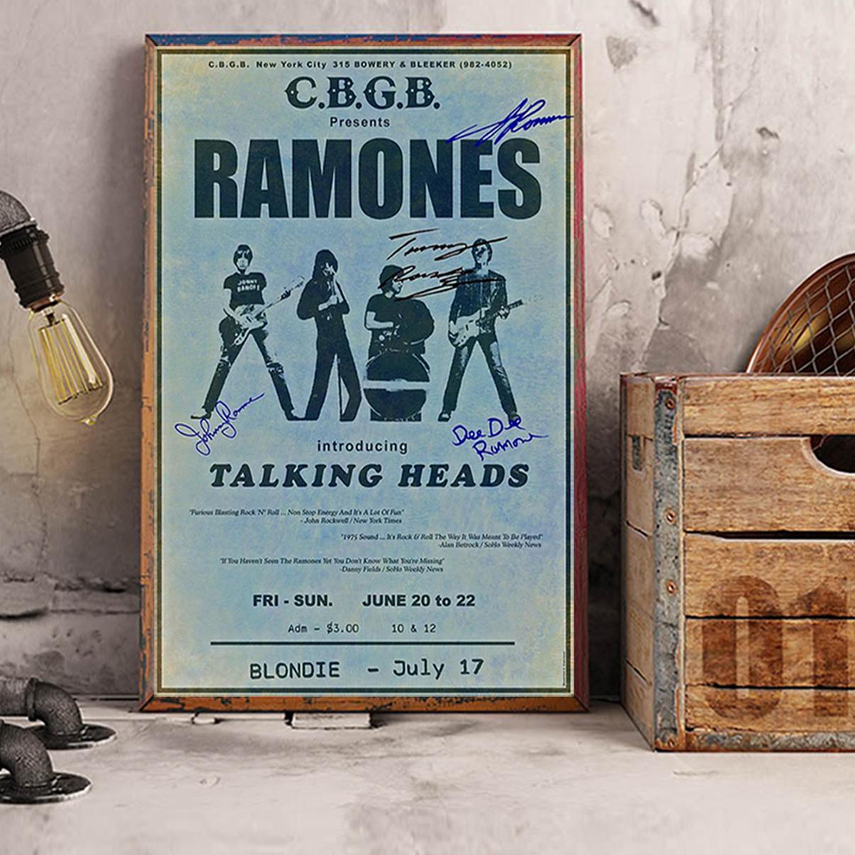 Ramones cbgb talking heads poster A1