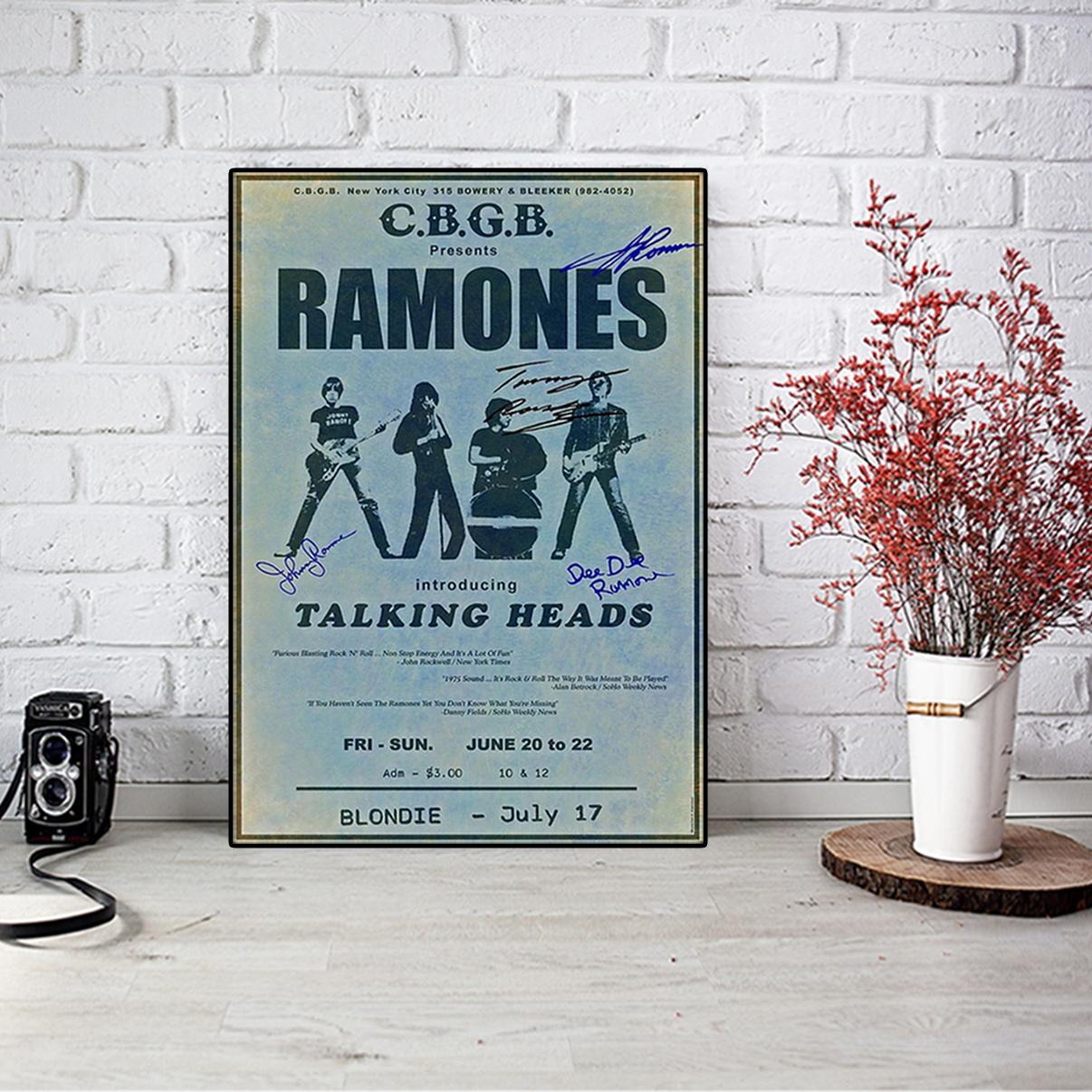 Ramones cbgb talking heads poster A2