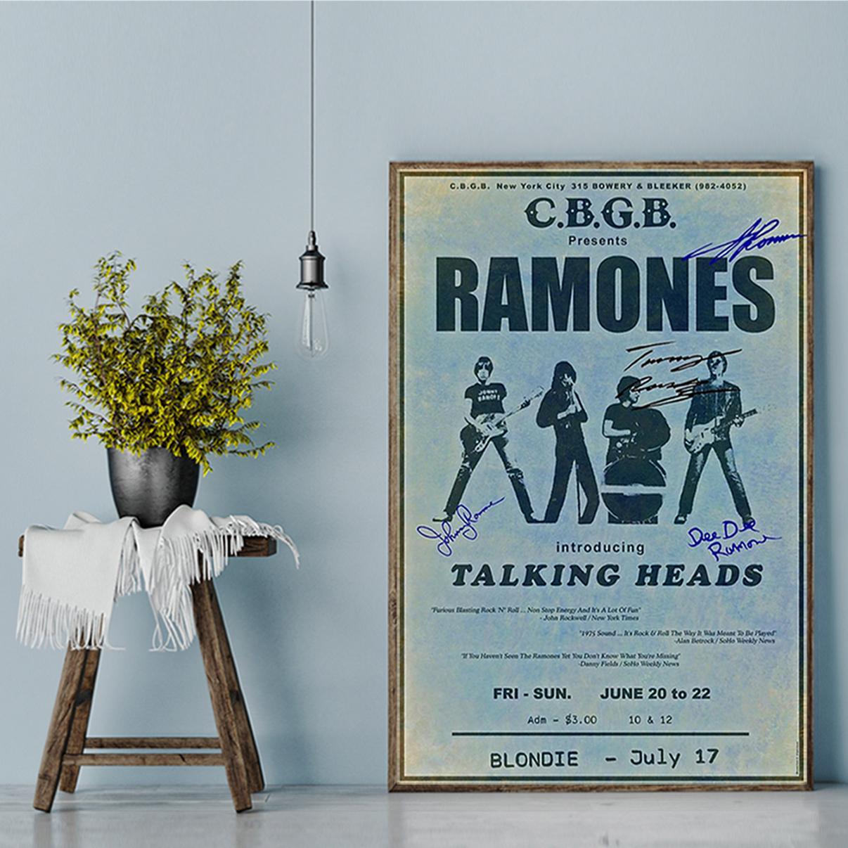 Ramones cbgb talking heads poster A3