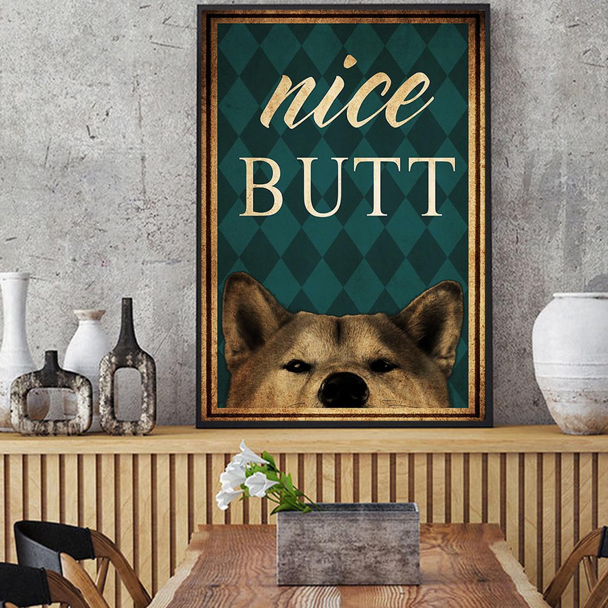 Shiba inu dog nice butt poster A2