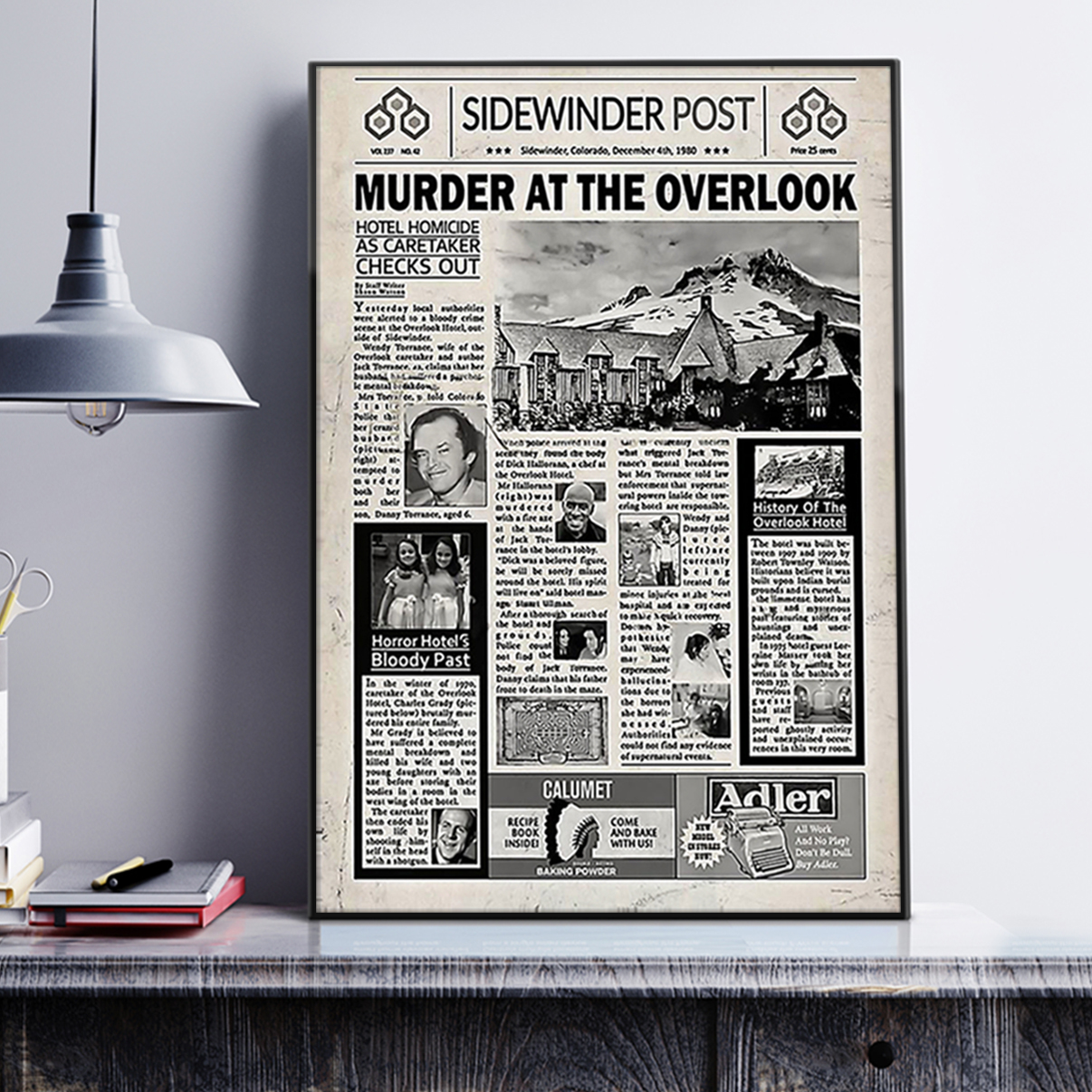 Sidewinder post murder at the overlook poster A1