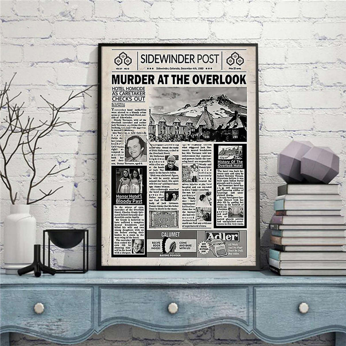 Sidewinder post murder at the overlook poster A3