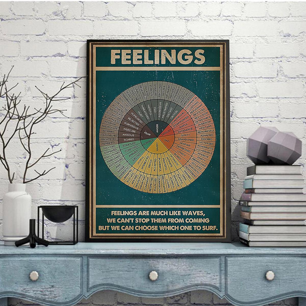 Social worker feelings poster A2