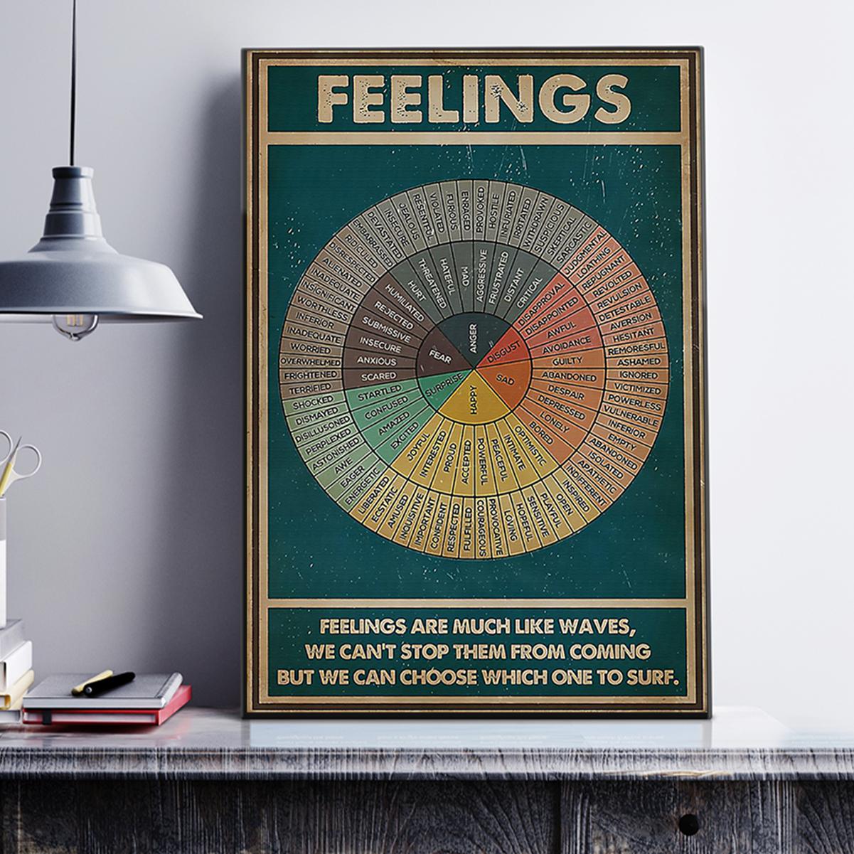 Social worker feelings poster A3