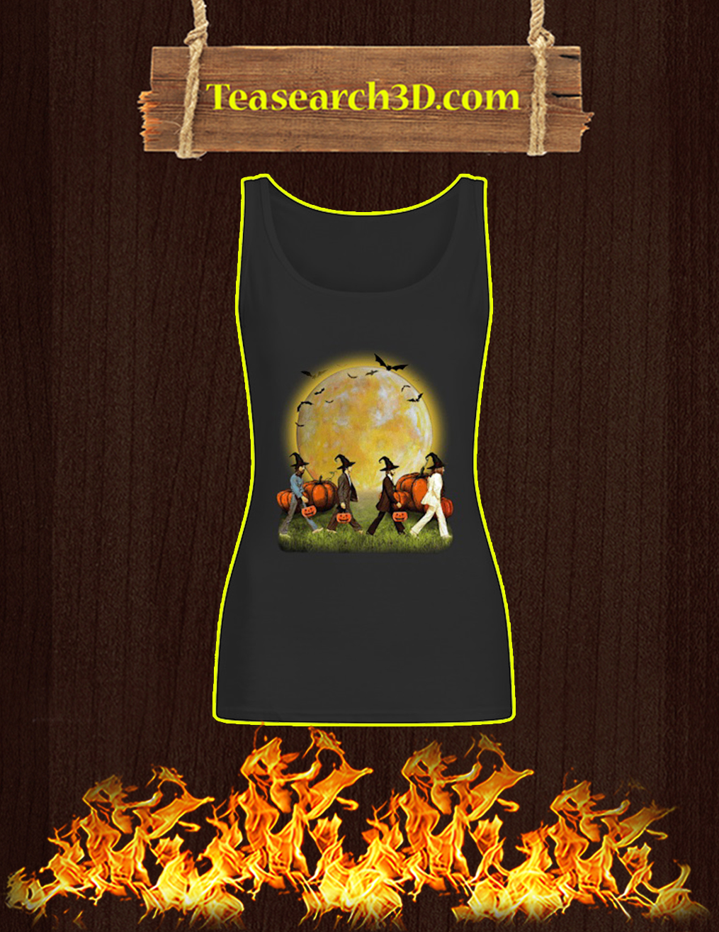 The beatles abbey road halloween tank top
