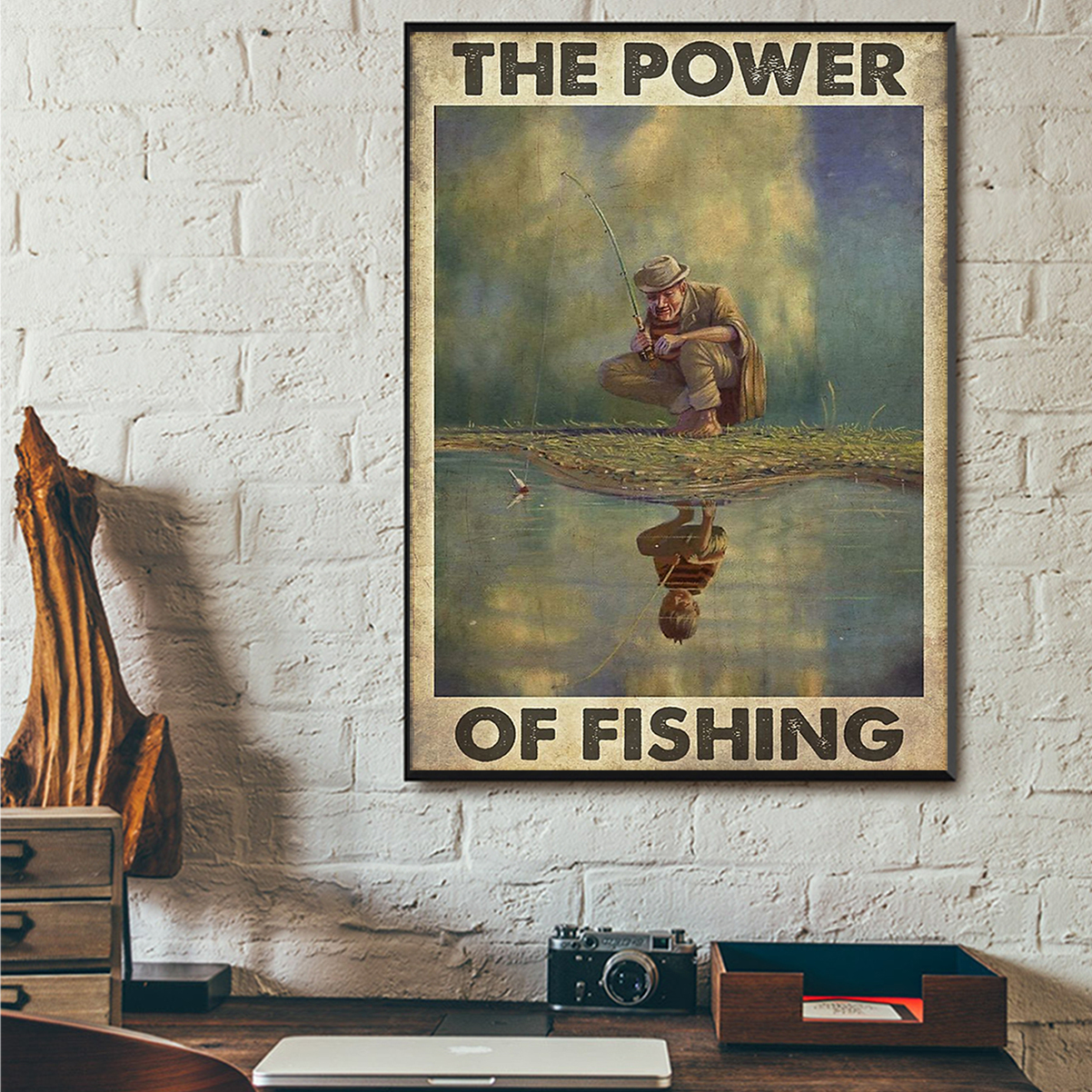 The power of fishing poster A1
