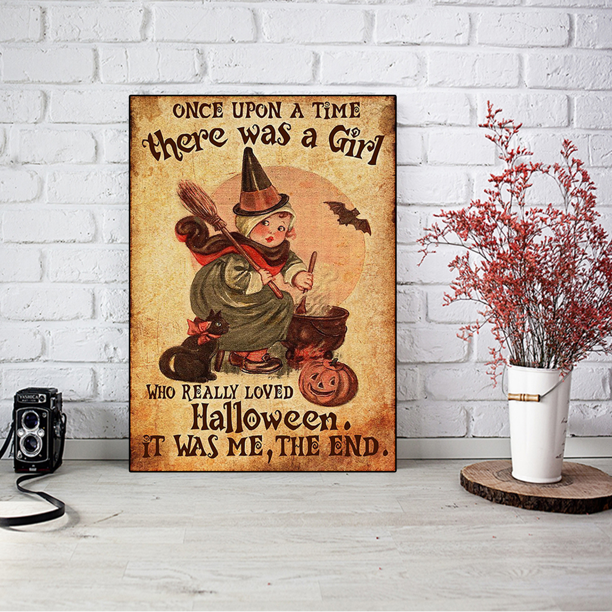 There was a girl who really loved halloween poster A1