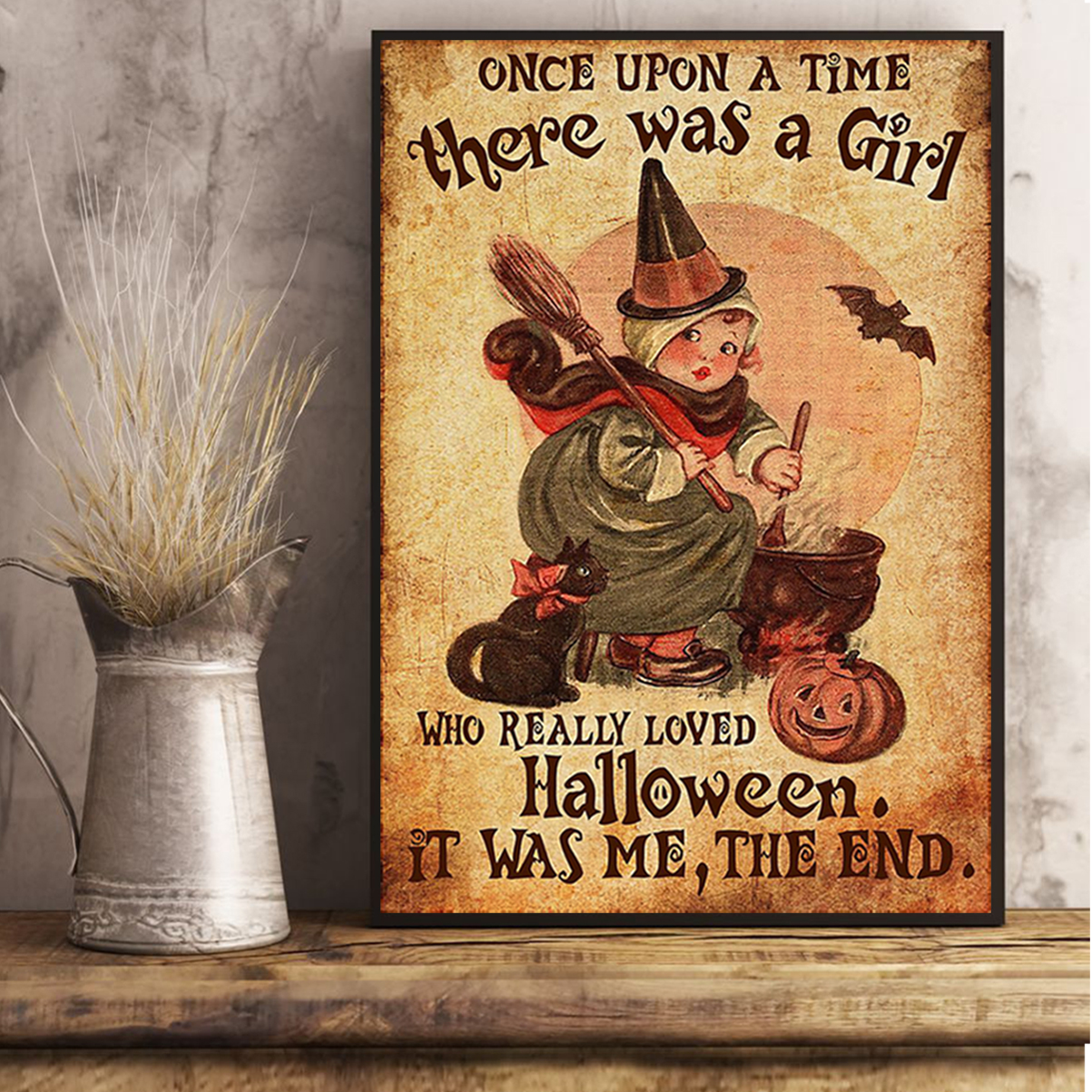 There was a girl who really loved halloween poster A3