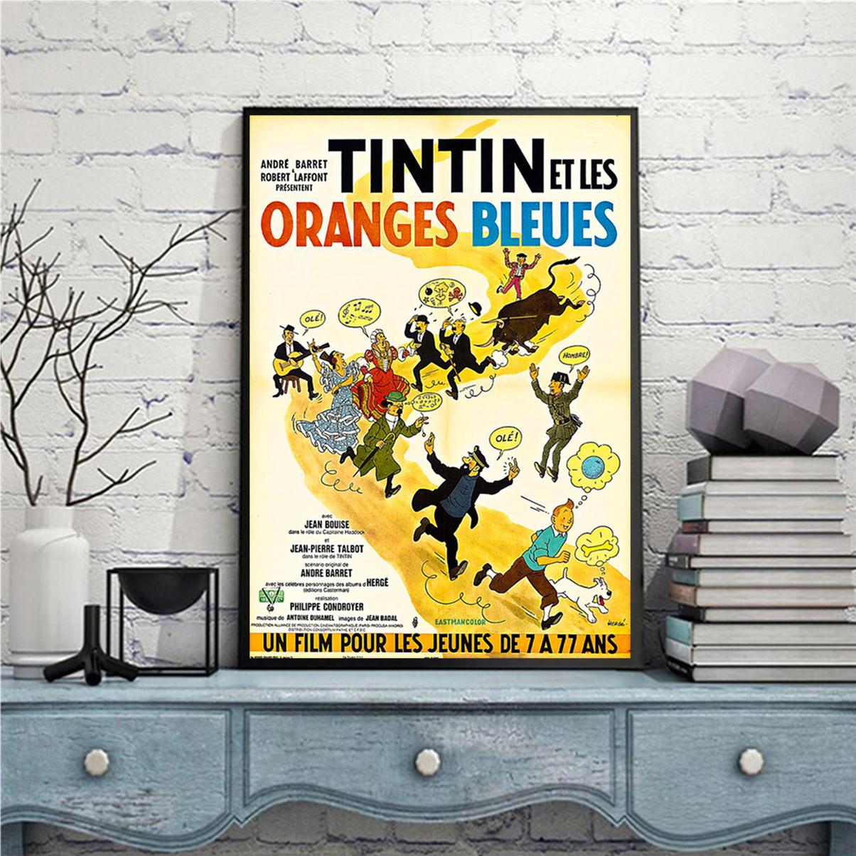 Tintin et les oranges bleues affiche A2