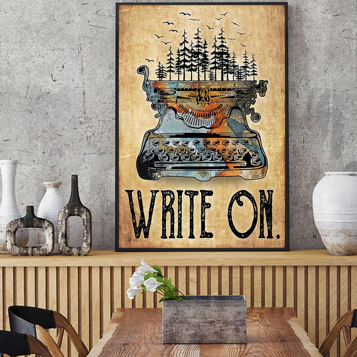 Typewriter write on poster A1